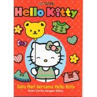 Buku Cerita dengan Stiker Hello Kitty Satu Hari bersama Hello Kitty