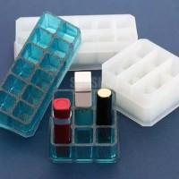 Cetakan Box Lipstick bahan Silikon 12 Lubang