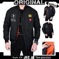 Jaket Bomber Original Bojiel Full Patch / Boomber jacket / Waterproof