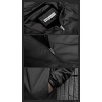 jaket pria hoodie | jaket anti air | jaket hoodie premium by haky - black, M
