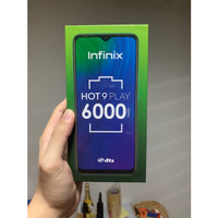 INFINIX HOT 9 PLAY 4/64 GB PASTI READY - Quetzal Cyan