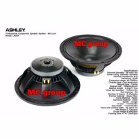 Speaker ASHLEY 15 inch L 600A original karakter midlow power 1200watt