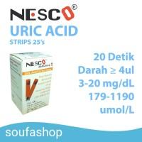 strip cek asam urat Nesco multicheck / stik asam urat /strip asam urat