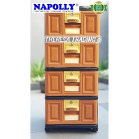 LEMARI PLASTIK NAPOLLY STOCKCASE SUSUN 4 STB 4000 WITH DRAWER LOCK