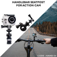 Handlebar Bike Seat post Roll Cage Mount handle camera sepeda
