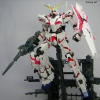 MG 1100 Unicorn Gundam full psycho frame HD color + MS Cage daban
