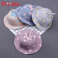 Topi Pantai Princess Aksen Hati untuk Bayi / Anak Perempuan