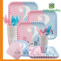 65/112/114PCS/Set Gender Reveal Party Supplies Baby Shower Miami