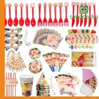 84Pcs Flamingo Kids Birthday Party Tableware Set Decor Miami