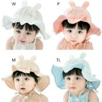 Topi Bucket Anak Perempuan Model Princess untuk Musim Panas /