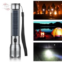 Solar Powered Flashlight Handheld Flashlight LED Torchlight for