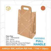 Paper Bag Kantong Roti Lunch Paperbag Kraft Polos - PBFH3020