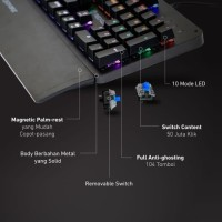 Rexus Keyboard Gaming Mechanical Legionare MX3.2
