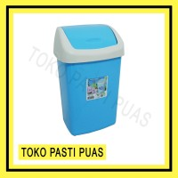 Tempat Sampah Tutup Plastik Orion 9 L Green Leaf 2001