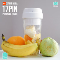 Xiaomi Mijia 17Pin Star Fruit Cup 400ml Botol Blender Juicer Portable - Putih