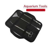 3 in 1 Stainless Steel Gunting pinset scraper aquascape