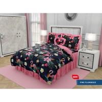 Bed Cover California - PINK FLAMINGO - Rumbai - 160x200 (Queen)