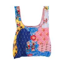 Tas Shopping Foldable Bag Jakarta Modern Batik Pink Blue