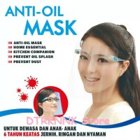 FACE SHIELD Kacamata Anti Oil Mask - Face Shield Nagita (FAMILY PACK)
