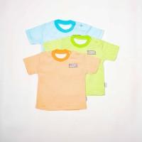 Oblong Pendek Bayi Salur-Blessing babywear-Size:S-M-L(isi Set 3 pcs)