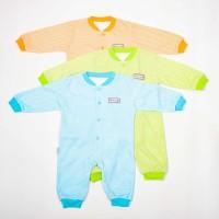 Jumper Panjang Rib-Blessing baby-motif salur- (Size:Allsize-Set 3 pcs)
