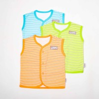Baju bayi tgn Kutung salur-Blessing babywear SZ:S-M-L(isi Set 3 pcs)-