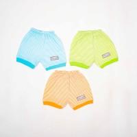 Celana Pendek Rib- salur-Blessing babywear-Size NB (Isi Set 3 pcs)