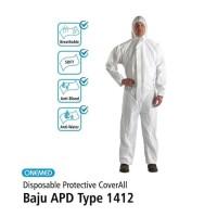 Baju APD Type 1412 (Disposable Protective Coverall Putih)