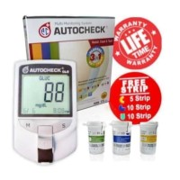 Alat Cek Gula Darah Asam Urat Kolesterol Autocheck 3in1+Alkohol Swab