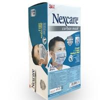 3M Masker Nexcare Carbon 4 ply 1 box isi 24 pcs Original