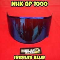 Kaca Visor NHK GP 1000 - Iridium Blue visor flat GP1000