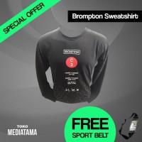 Kaos Baju Tshirt Lengan Panjang Olahraga Sepeda Lipat Brompton T-Shirt
