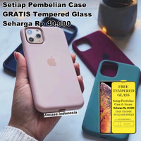 Premium Silicone Case iPhone 11 Pro Max Softcase Polos FULL COVER