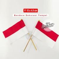 bendera merah putih hiasan tempel kaca mobil / aksesoris hut ri