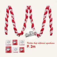 kertas dekorasi merah putih zig zag hiasan 17 agustus krep merah putih