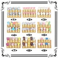 wooden clip 3,5cm motif / penjepit foto motif