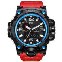Jam Tangan Pria Digital LED Sport SMAEL 1545 Original DUAL TIME