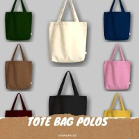 TAS / Tote bag canvas polos (FURING+PREPET PIN)