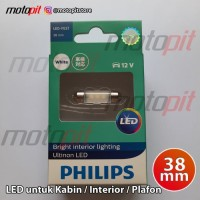 PHILIPS ULTINON LED Festoon 38mm Lampu Kabin Plafon Interior Putih