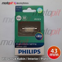 PHILIPS ULTINON LED Festoon 43mm Lampu Kabin Plafon Interior Putih
