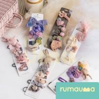 RUMAUMA Set 5 pcs Jepitan Rambut Hairclip Korea Wanita Lucu Anak