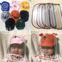 Topi Anti Corona Bayi / Face Shield Baby / Pelindung Muka Baby - Navy