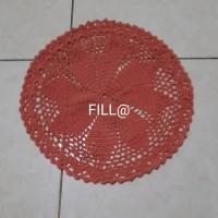 Taplak Meja Rajut/Rajutan Bulat Diameter 25 cm Handmade