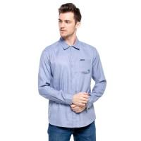 Cottonology Kemeja Lengan Panjang Pria Verona Biru