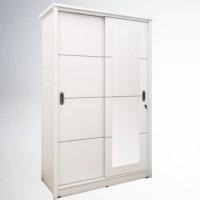 Lemari pakaian 2 pintu cermin sliding