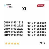 perdana Nomor Cantik XL seri 0819 1193 1818 rapi