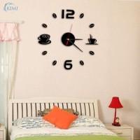 Jam Dinding 3D DIY Wall Clock Dekorasi Interior Hiasan Rumah Kamar Set
