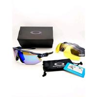 Big Sale kacamata gowes sepeda oakley radar ev advancer dark blue