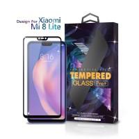 Tempered Glass Xiaomi Mi 8 Lite Full Cover Black - Premium Glass Pro