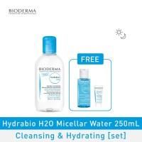 Bioderma Hydrabio H2O Micellar Water Cleansing & Hydrating 250ml [set]